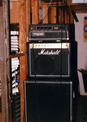 Unmarked's rehearsal space, Bob's basement, circa September 1987. Guitar amp.