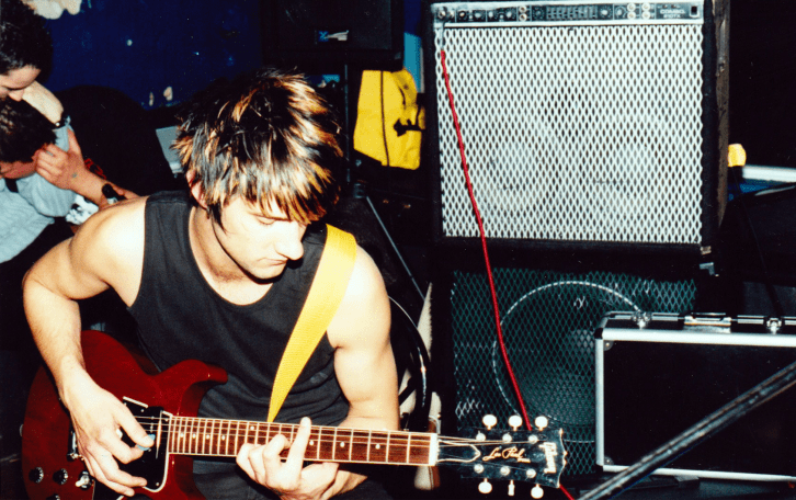 Jeff Legris on June 9th, 2001 when Ellington played a showat Polo's in Hess Village. Photo courtesy of Ryan Hook