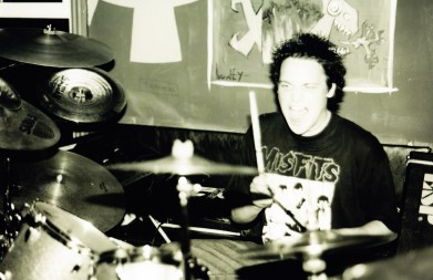 Adam Vezelisin at the rehearsal space during 2001. Photo courtesy of Ryan Hook