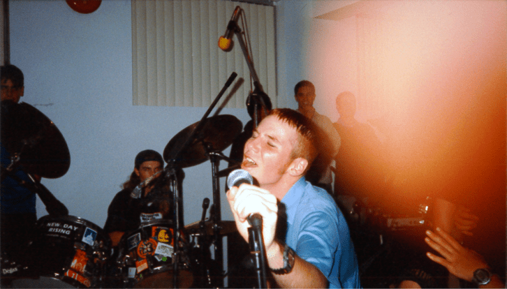 Louis Mistreated performing at Erin Mills United Church, circa 1996