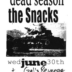 June 30th 1999 at Clunk Music Hall (Fayetteville, AR) Ellipsis Union, The Snacks, Gal's Revenge. Photo courtesy of Al Biddle