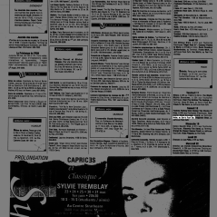Listing from Voir magazine for Boize's show at Sams's Rock Bar, Saint-Leonard, Canada on May 18th 1991.