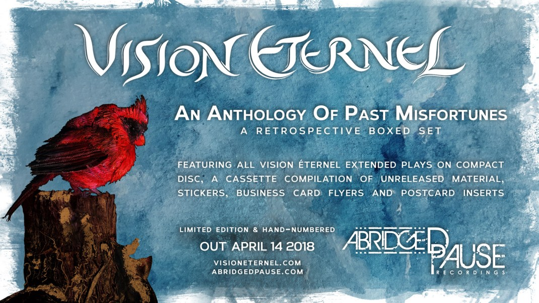 "Vision Éternel ""An Anthology Of Past Misfortunes"" boxed set flyer."