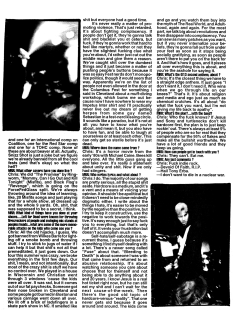 Maximum Rock N Roll Issue #199, December 1999. The Swarm article, page 2