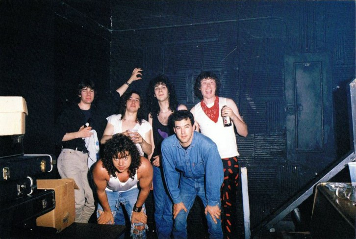 Boize after their set at Salle L'Intro, Montreal, Canada on May 26th 1990