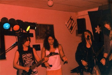 Boize performing live at Sam's Rock Bar, Saint-Leonard, Quebec, Canada on December 23rd 1990.