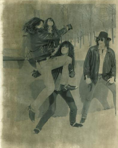Boize's second promotional photo shoot, shot by Diane Archambault in February of 1991 on Mount Royal, Montreal, Canada.