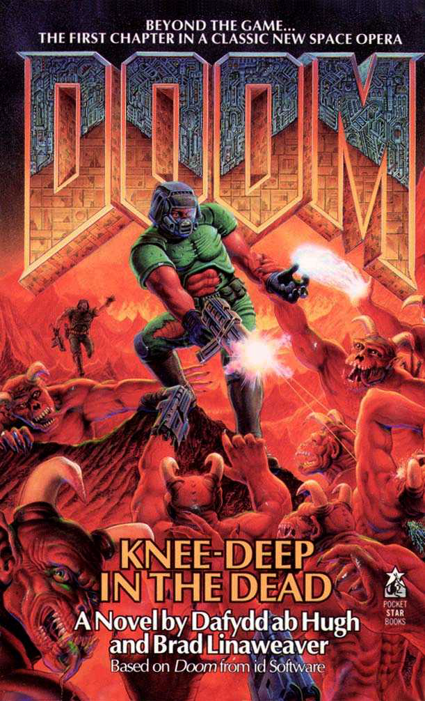 """Doom: Knee-Deep in the Dead"" book, by Dafydd ab Hugh and Brad Linaweaver. Pocket Books Publishing, June 1995."