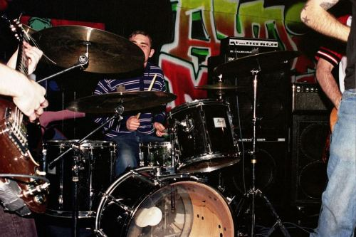 The Swarm in 1998. Venue and exact date unknown. Photo courtesy of Mark Miller.