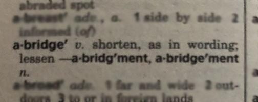 Abridge Dictionary Definition