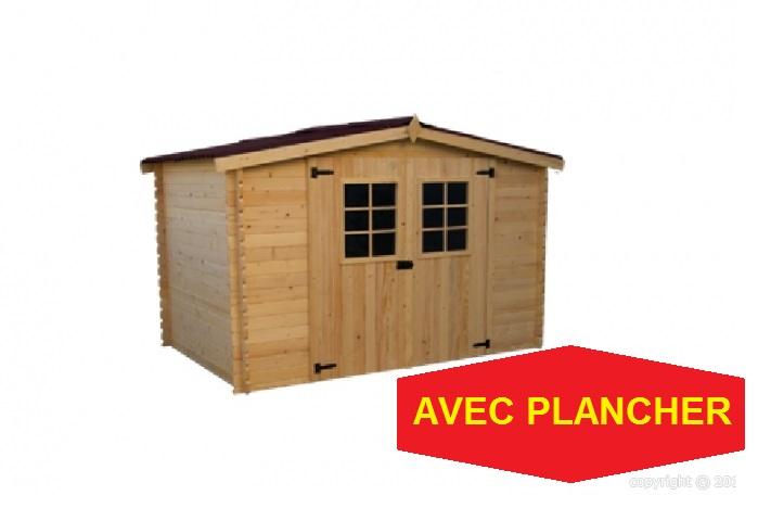 abri jardin bois plancher alpin 3 10x3 04m 9 42m2 19mm