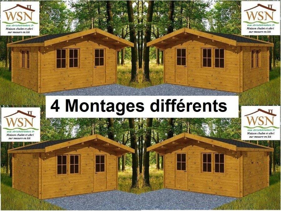 bungalow en bois var 25m dim 5000x5000 44mm