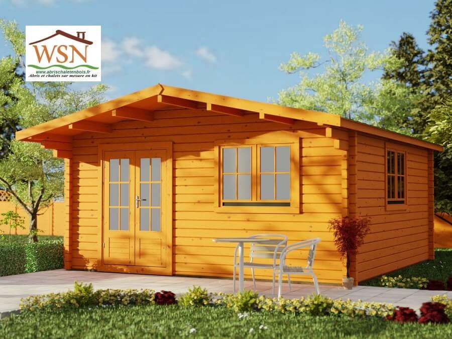 bungalow en bois aveyron 25m dim 5000x5000 44mm