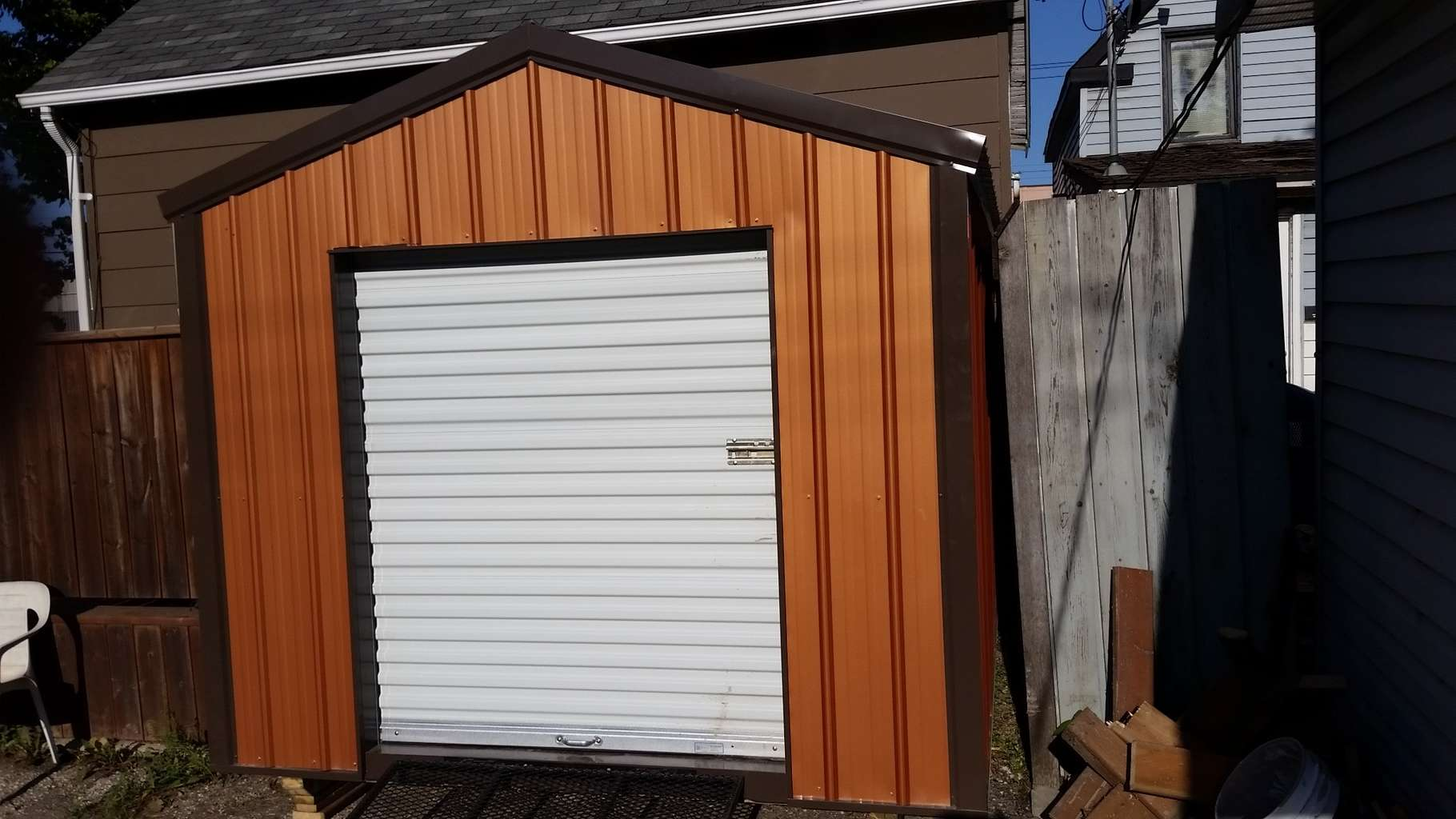 shed mega options up sheds doors storage door roll