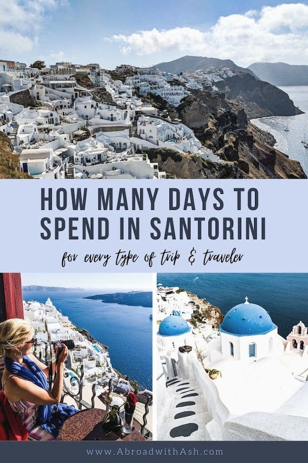 how many days to spend in santorini