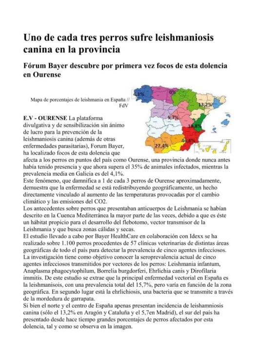 Extracto de un artículo publicado en Faro de Vigo el 16 de Agosto del 2012