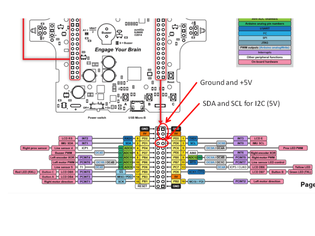 zumo-i2c-connections