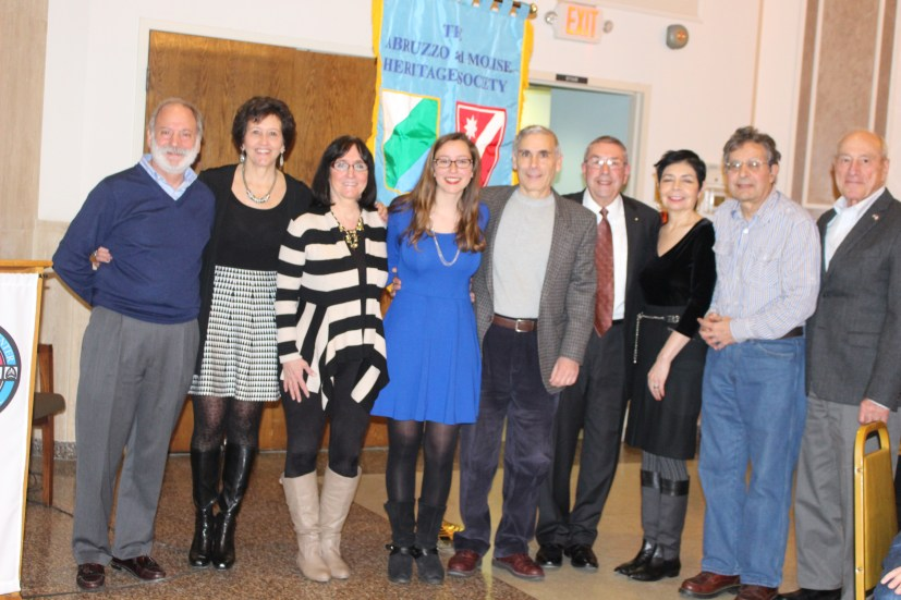 The AMHS scholarship committee with scholarship winner Maria LaVerghetta, Jan 31, 2016 meeting