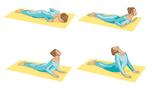 Printable Yoga positions - the cobra pose