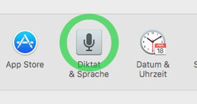 Mac Diktierfunktion aktivieren