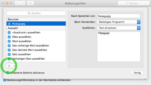 Mac Diktierfunktion lernfähig