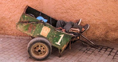 Schlafender Marokkaner