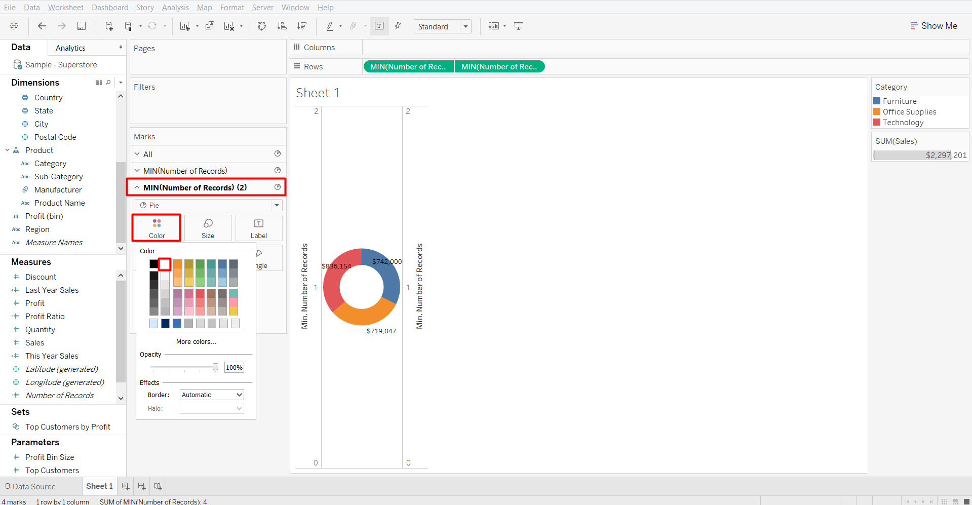 How To Make A Donut Chart In Tableau