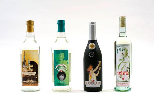 Les absinthes Bovet La Valote