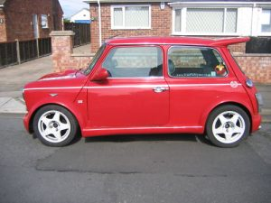 mini cosworth spoiler red