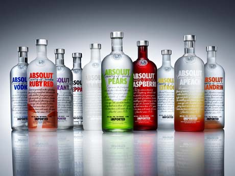 absolut vodkas