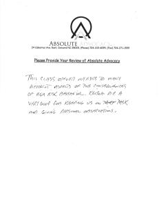 ADETS Reviews - Absolute Advocacy NC ADETS Instructors