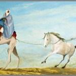Arabian Horse Trader Oil Painting By Ozzie Kajtezovic Absolutearts Com