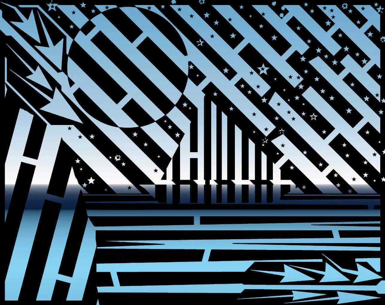 Midnight Sailing Maze Digital Drawing By Yanito Freminoshi