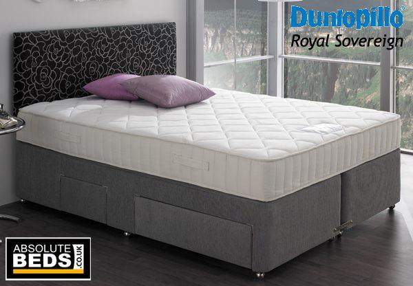 Dunlopillo Royal Sovereign 5ft King Size Latex Divan Bed Set