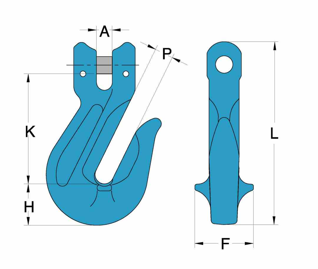 Grade 100 Chain Fittings Clevis Grab Hook_drawing-min