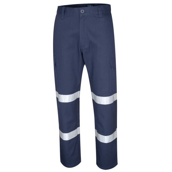 HEAVY WEIGHT COTTON DRILL WORK TROUSERS WITH 3M TAPE