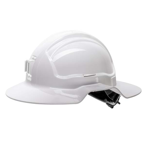 Type 1 Broad Brim Poly Hard Hat - Non-vented Head Protection