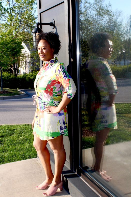 Colorful Shirt Dress