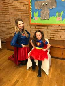 Supergirl Party Mascot