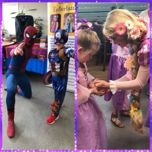 Brookfields Garden Centre Superhero and Princess event