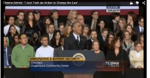 Obama:  I took an action to change law