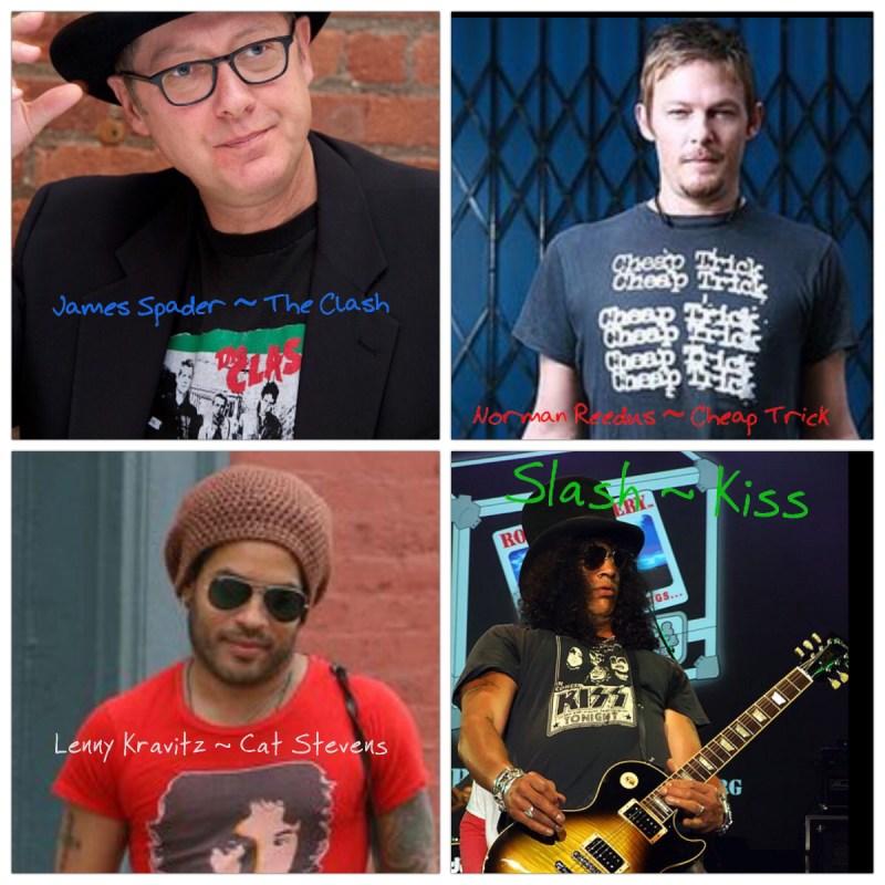 (L to R) James Spader, Norman Reedus, Lenny Kravitz, Slash