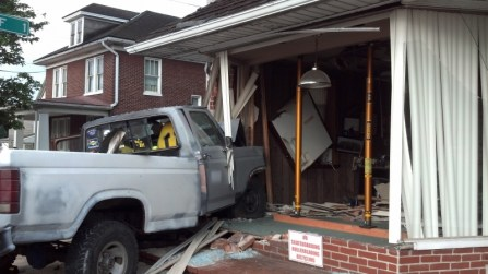 vehicle into building crashes-paratech (2)