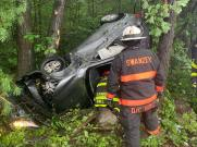 Vehicle crash into the trees Paratech Strut (5)
