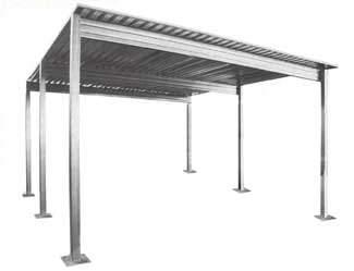 Steel Single Slope Carport