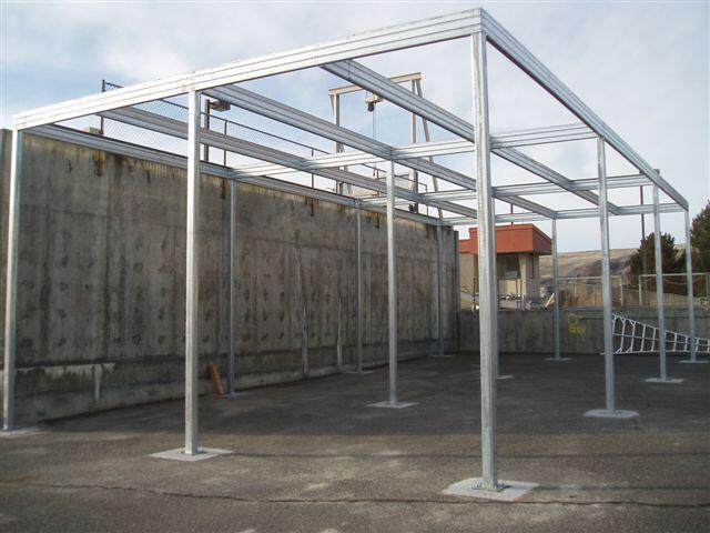 Shade Canopy Steel Frame Absolute Steel