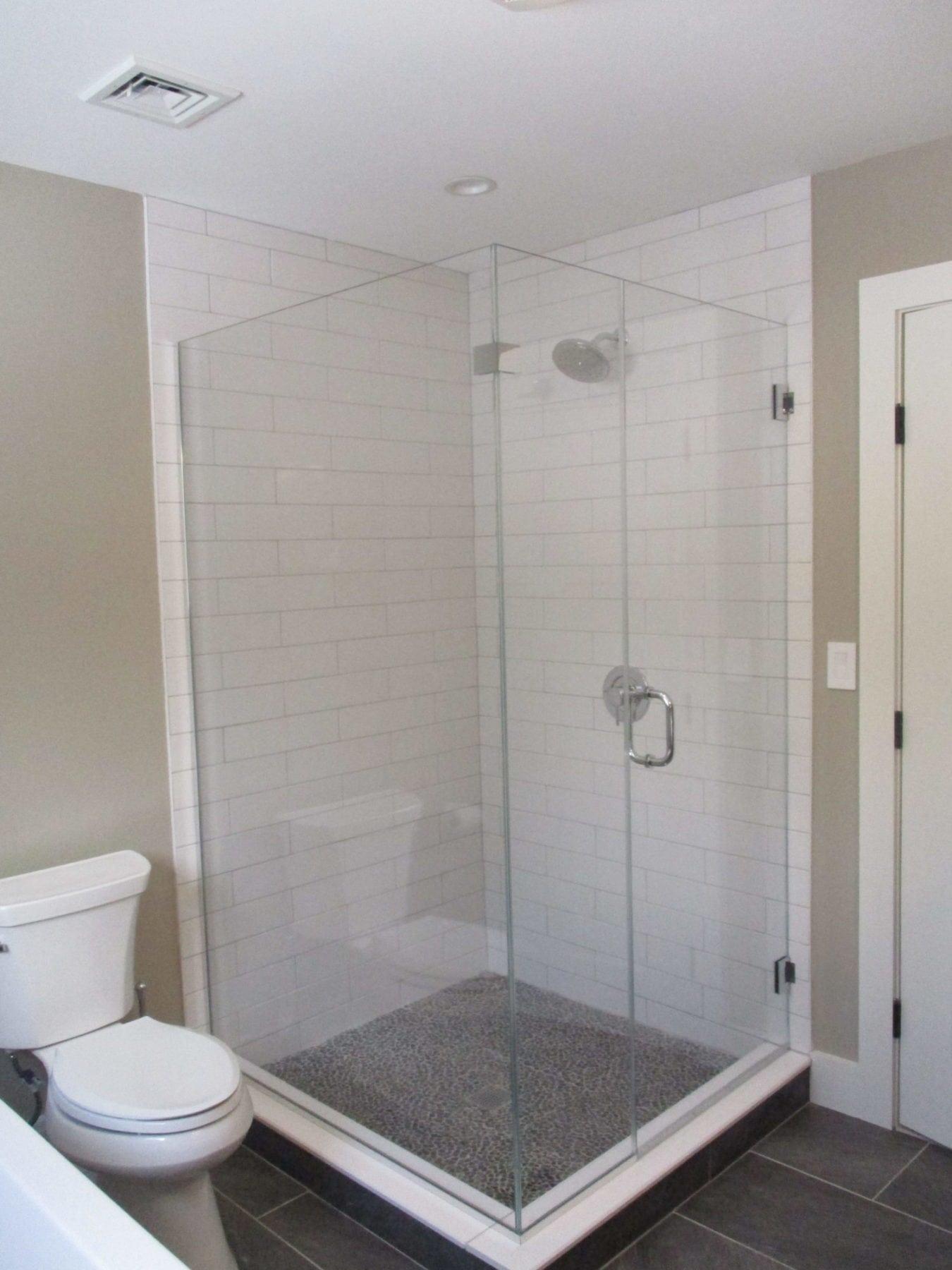 Frameless Corner Shower Enclosure - Absolute Shower Doors