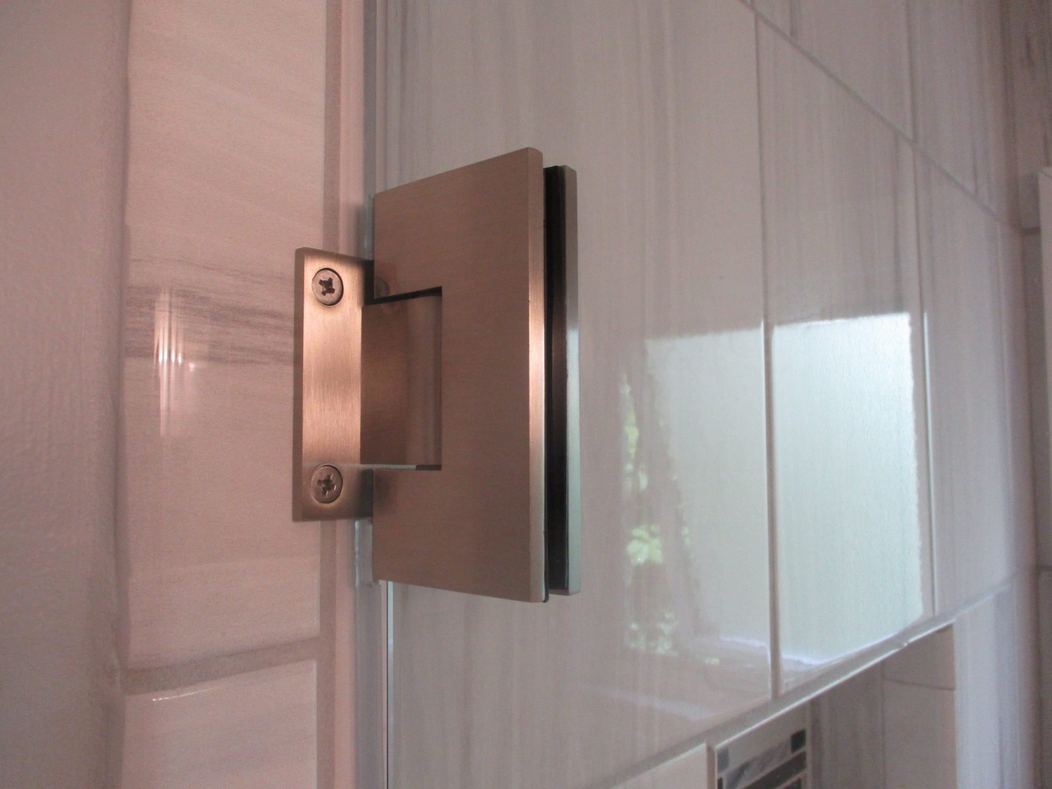 Frameless Door and Panel With Towel Bar