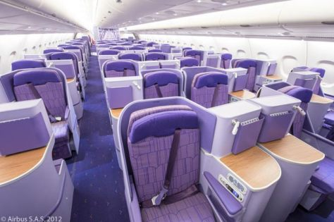 Image result for thai a380 business class