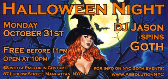 Absolution-NYC-Goth-Club-Flyer-Halloween-slider image